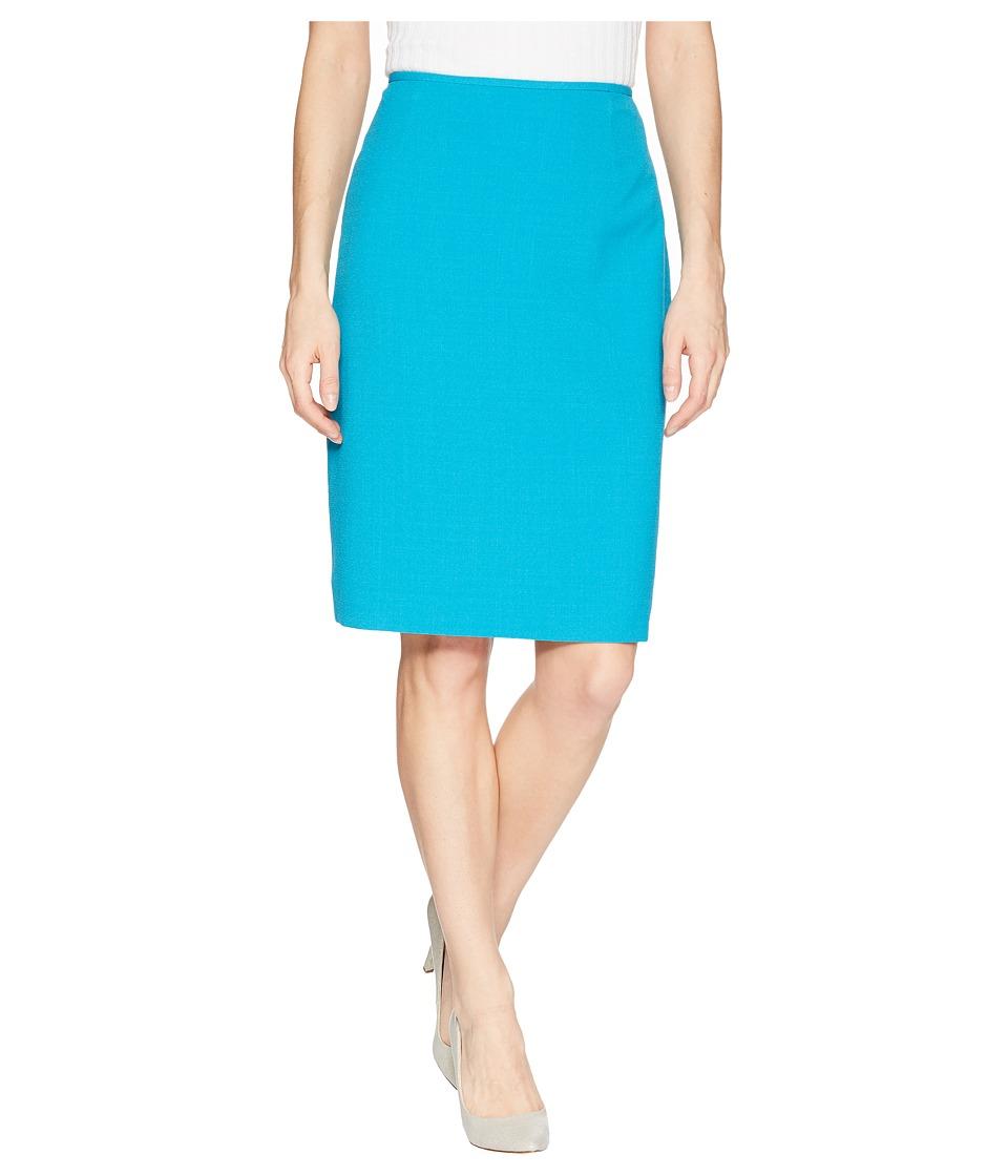 Tahari by ASL Crepe Pencil Skirt (Aruba Blue) Women