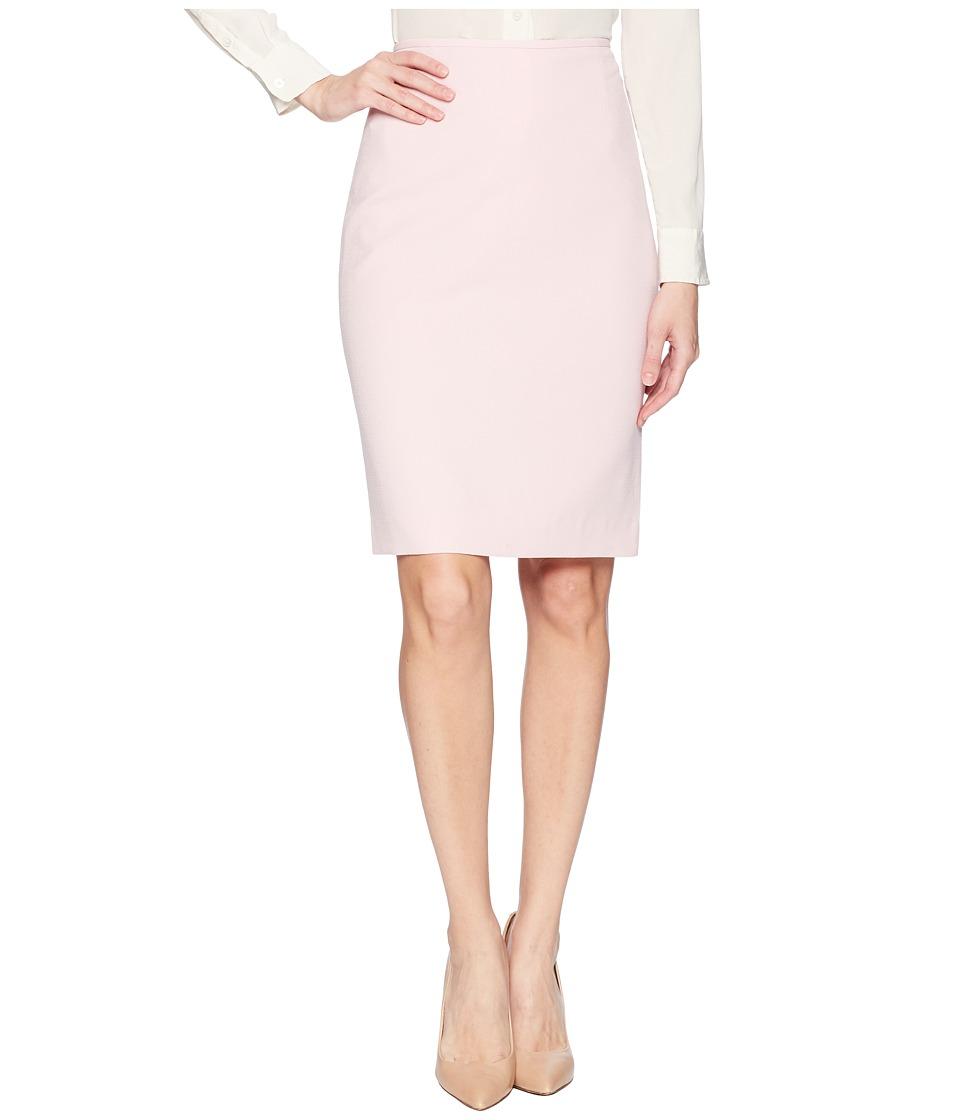 Tahari by ASL Crepe Pencil Skirt (Pale Pink) Women