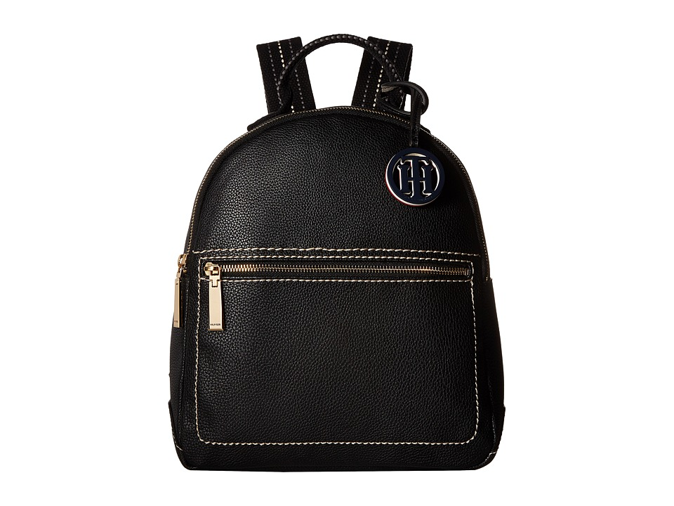 Tommy Hilfiger TH Web Backpack Double (Black/Nickel) Backpack Bags