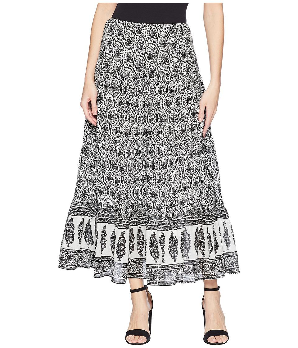 CHAPS Tiered Maxi Skirt (Pearl Multi/Villa Paisley) Women