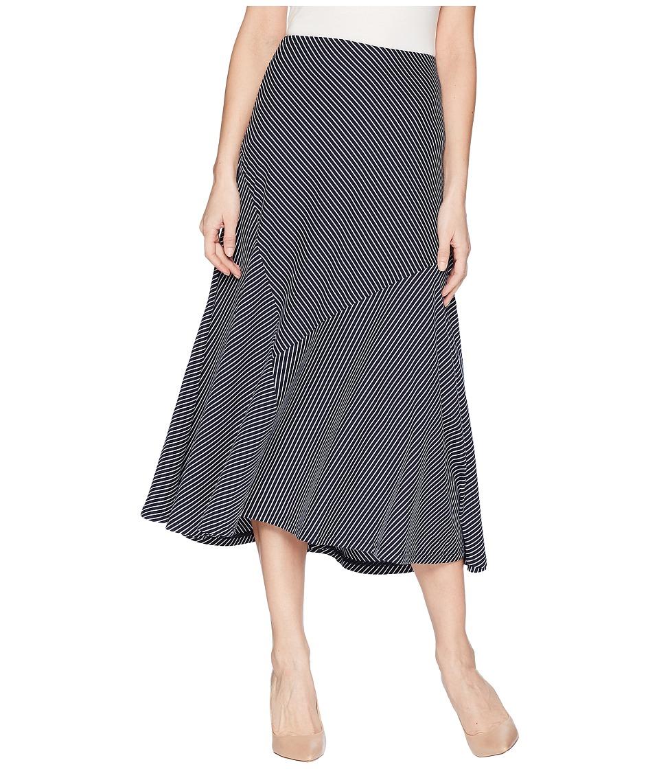 CHAPS Striped Jersey Maxi Skirt (Capri Navy/White) Women