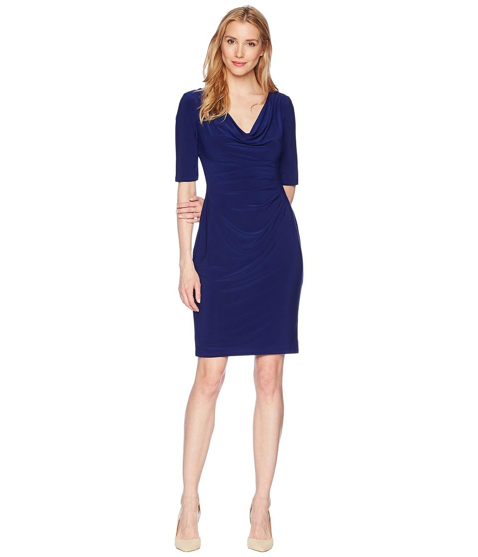 LAUREN Ralph Lauren Matte Jersey Carleton Dress (Rich Sapphire) Women