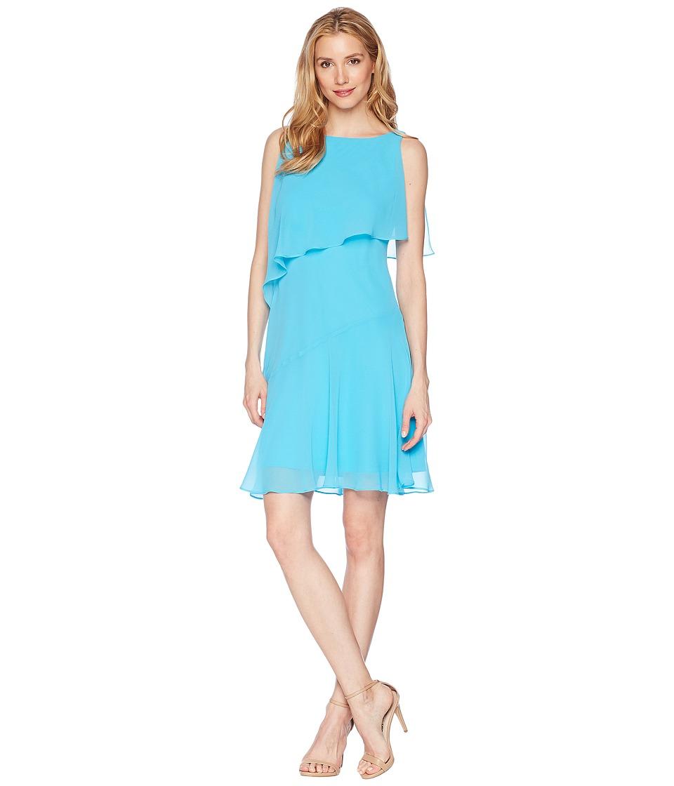 LAUREN Ralph Lauren Georgette Hobson Dress (Urbane Turquoise) Women