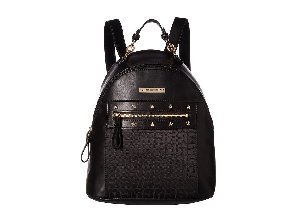 Tommy Hilfiger Claudia II Dome Backpack (Black Tonal) Backpack Bags