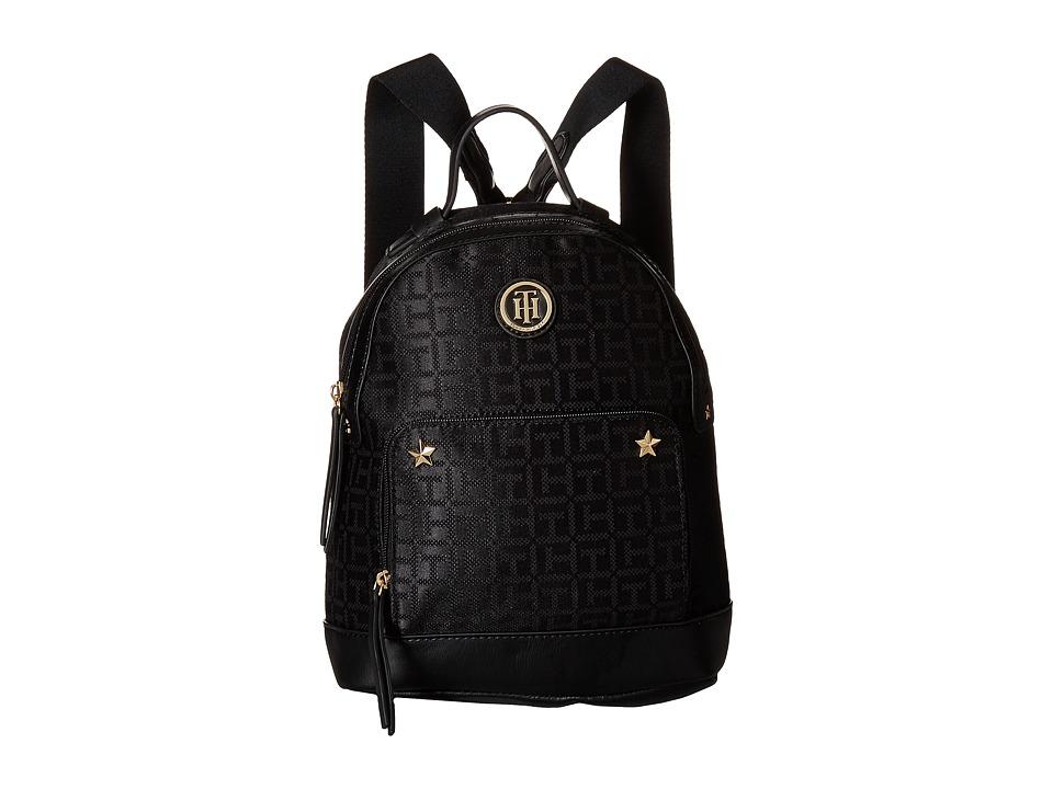 Tommy Hilfiger Emmeline II Backpack (Black Tonal) Backpack Bags