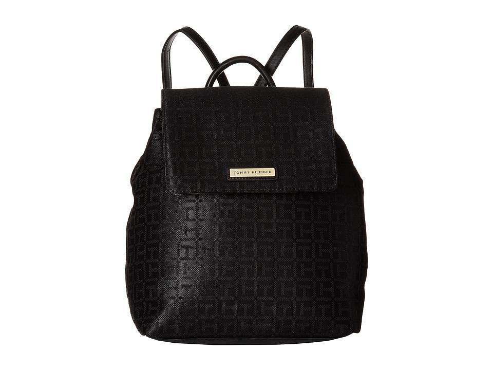 Tommy Hilfiger Grommet II Backpack (Black Tonal) Backpack Bags