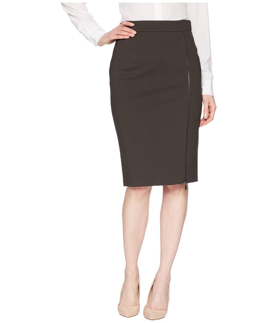 Tahari by ASL Pencil Skirt with Zipper Detail (Pine Green) Women