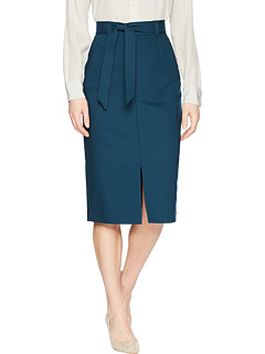 Midi Skirt With Belt by Tahari By Asl