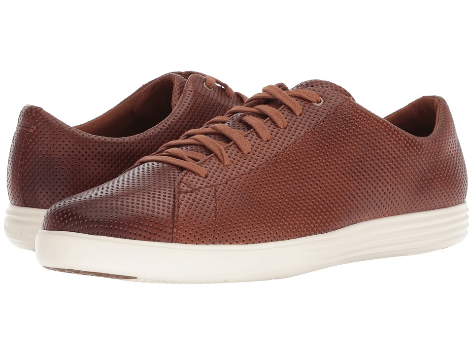 Cole Haan Grand Crosscourt Sneaker (Woodbury Perf Leather/Optic White) Men
