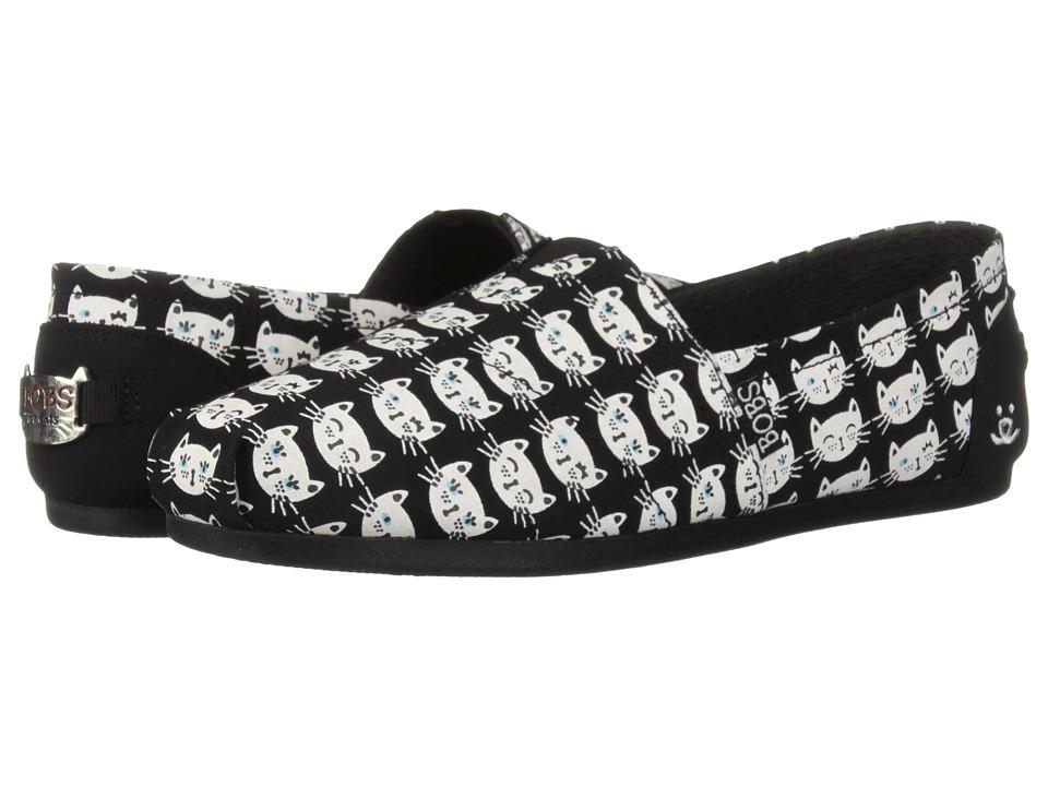 BOBS from SKECHERS Bobs Plush Happy Meow (Black/White) Women