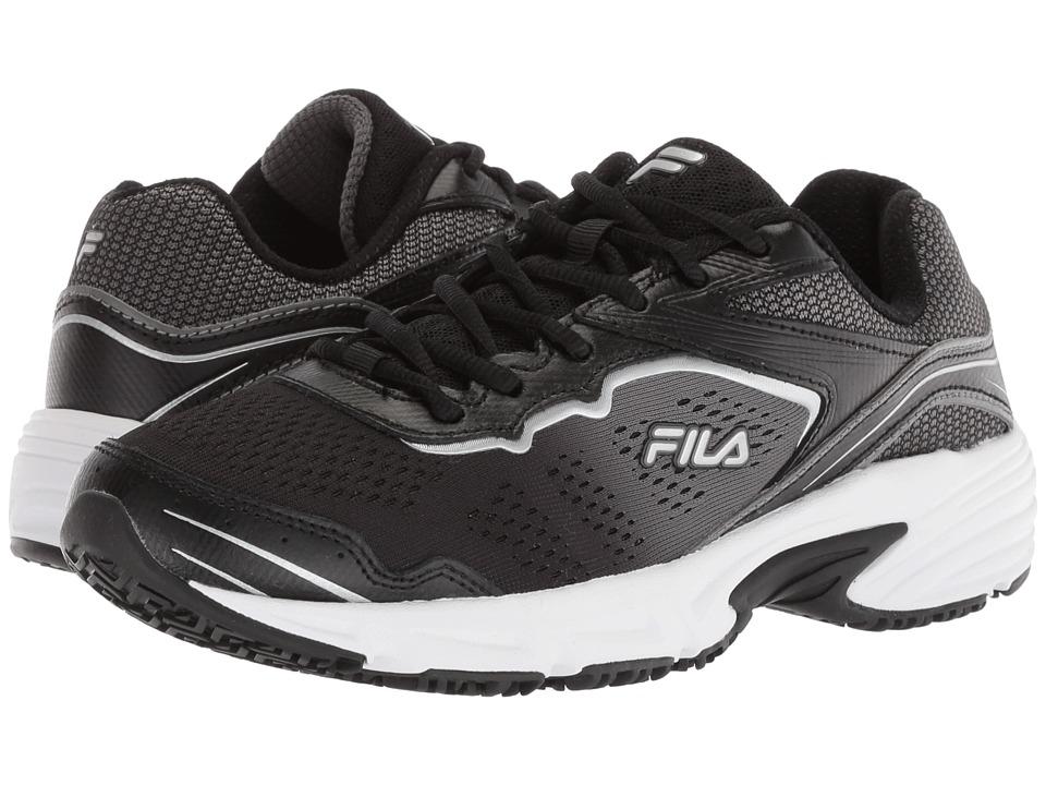Fila Memory Runtronic Slip Resistant (Black/Pewter/Metallic Silver) Women