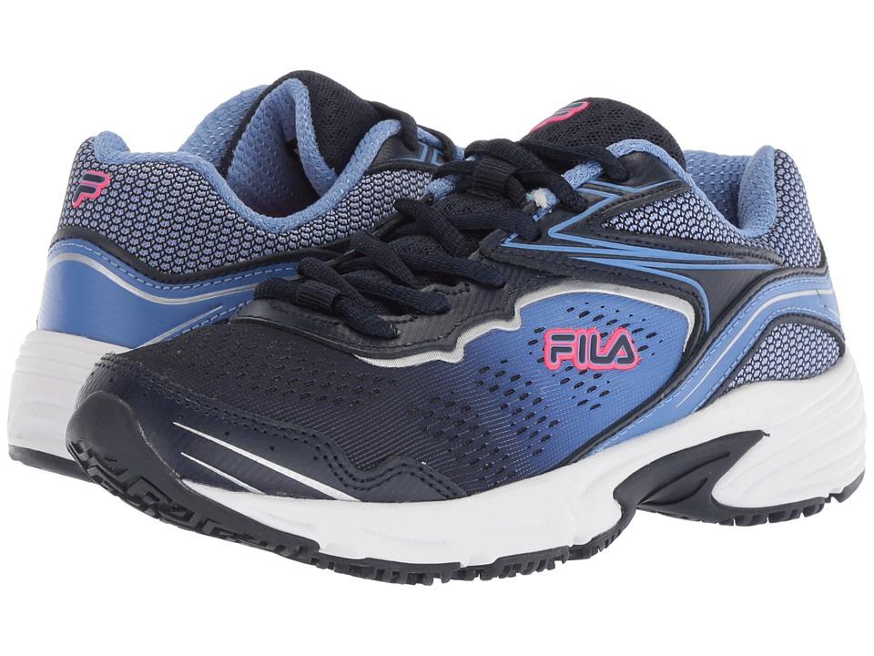 Fila Memory Runtronic Slip Resistant (Fila Navy/Wedgewood/Diva Pink) Women