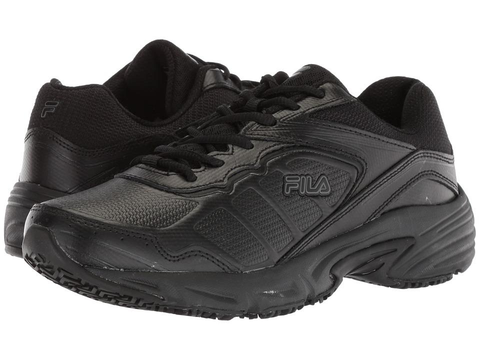 Fila Memory Runtronic Slip Resistant (Black/Black/Black) Women