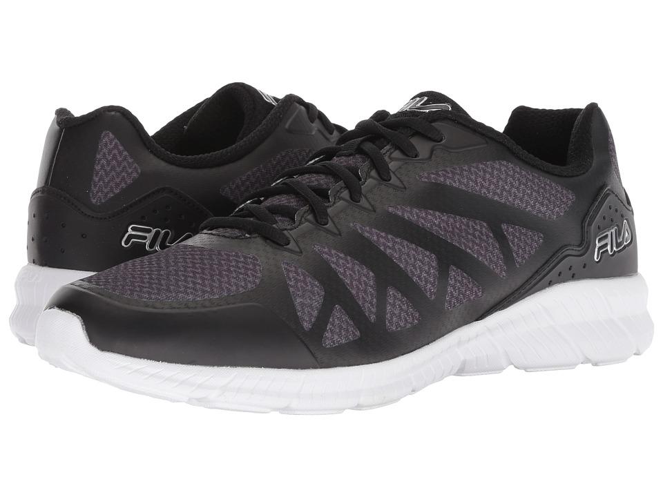 Fila Leggiero Running (Black/Dark Shadow/Metallic Silver) Men