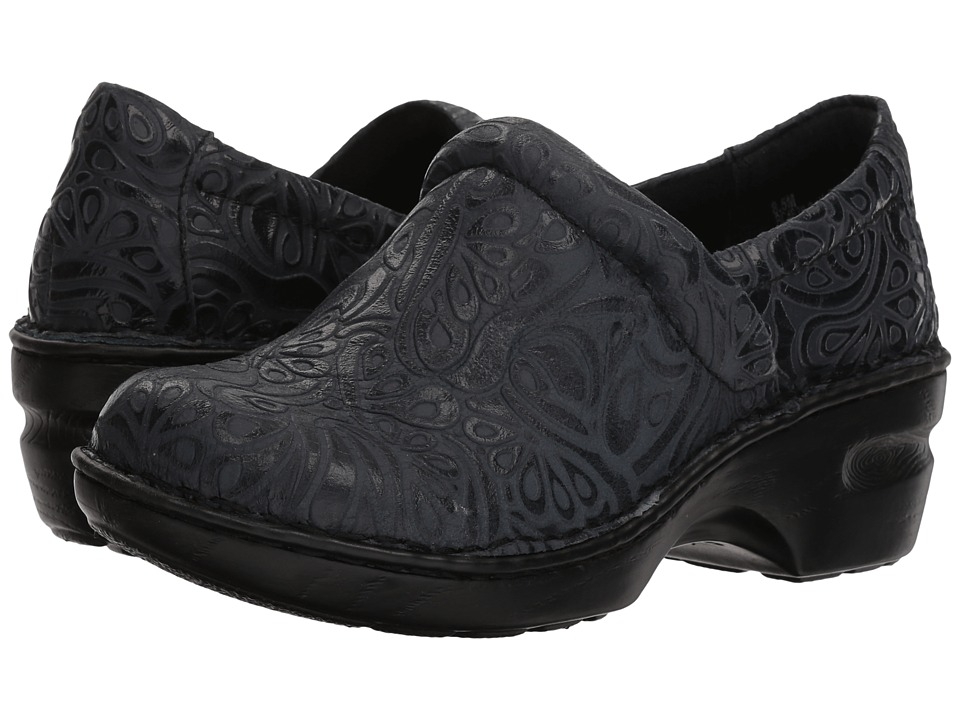 B O C Peggy Navy Tooled Full Grain Women S Shoes