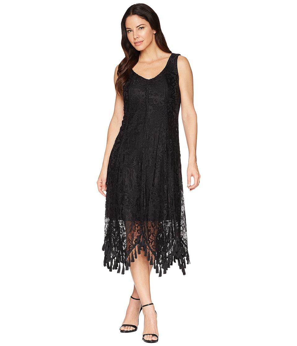 Taylor Sleeveless Lace Maxi Dress (Black) Women