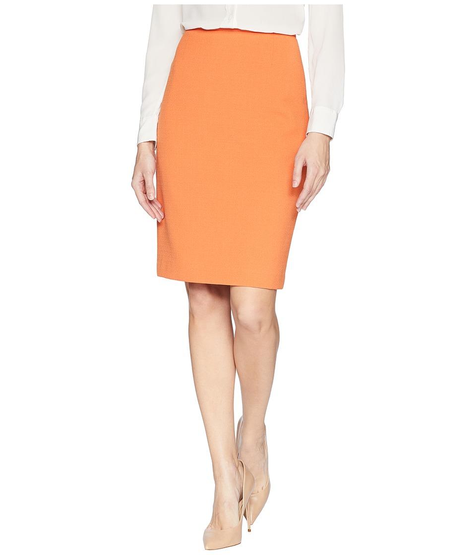 Tahari by ASL Crepe Pencil Skirt (Orange) Women