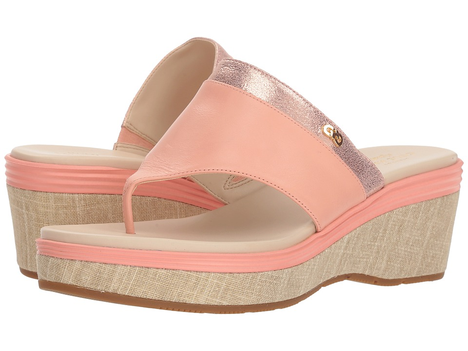 Cole Haan Cecily Grand Thong (Chalk Leather/Silver Shimmer Metallic Leather/Natural Canvas) Women