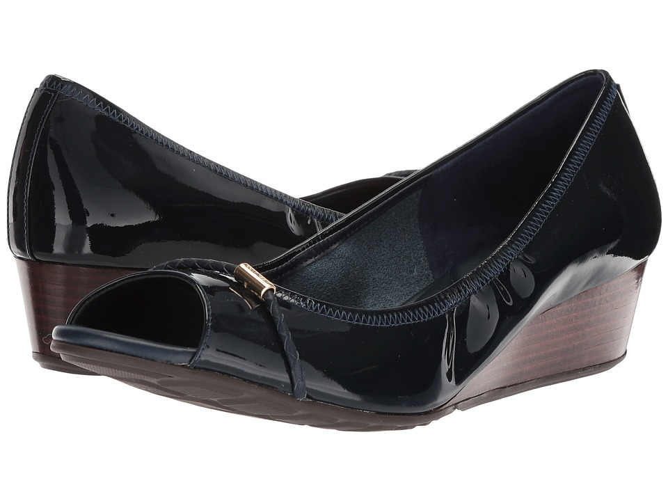 Cole Haan Emory OT Wedge with Braided Band 40 II (Blazer Blue Patent) Women