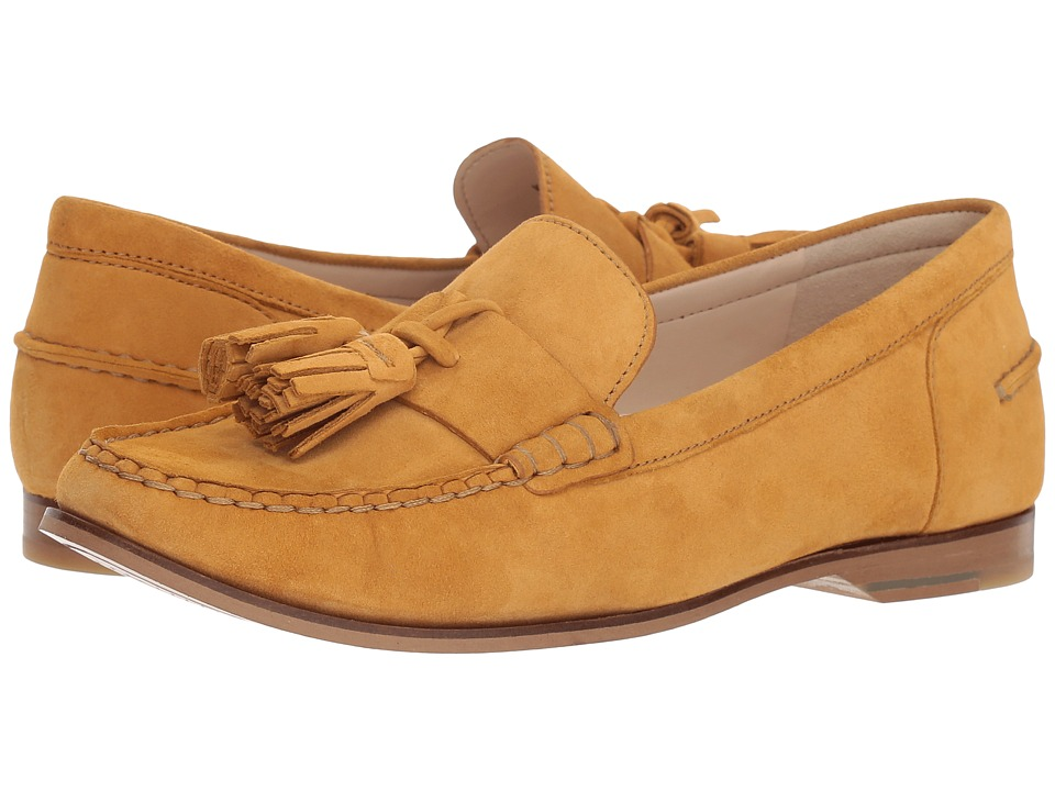 Cole Haan Emmons Tassel Loafer II (Spruce Yellow Suede) Women