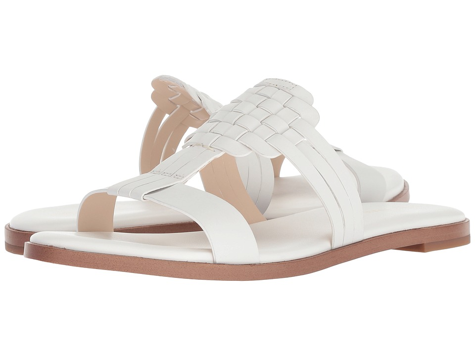 Cole Haan Findra Woven Sandal (Optic White Leather) Women
