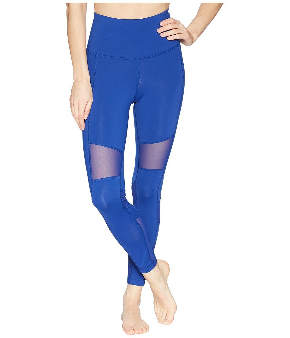 Reebok Lux Mesh High-Rise Tights (Blue) Women