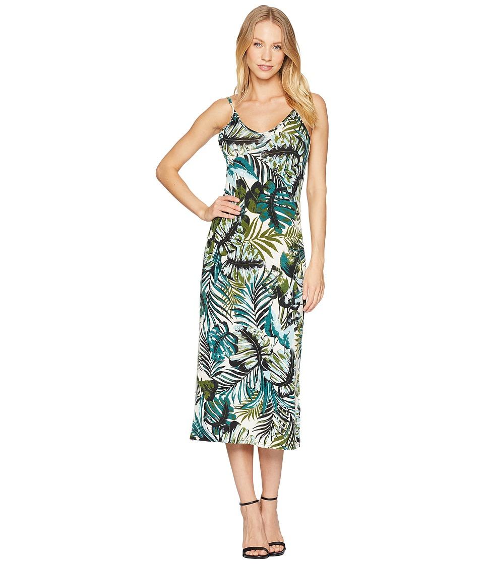 Angie Print Long Knit Dress (White) Women