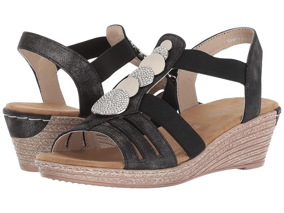 PATRIZIA Shprinza Wedge Sandal (Black) Women