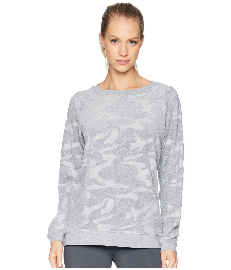 Jessica Simpson TheWarmUp Embossed Camo Pullover (Harvard Grey) Women