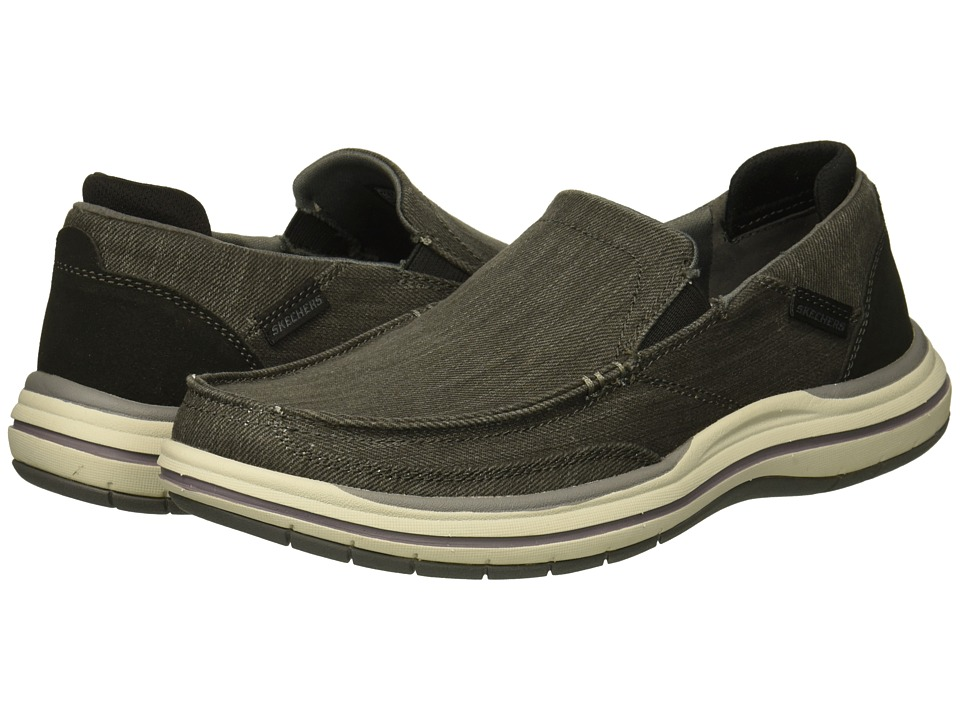 SKECHERS Elson Amster (Charcoal) Men