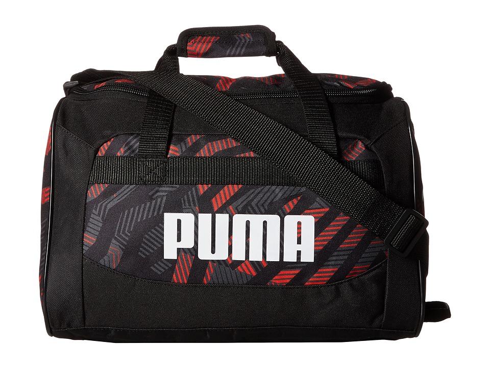 PUMA Evercat Youth Transformation 13 Junior Duffel (Little Kids/Big Kids) (Gray/Black) Duffel Bags