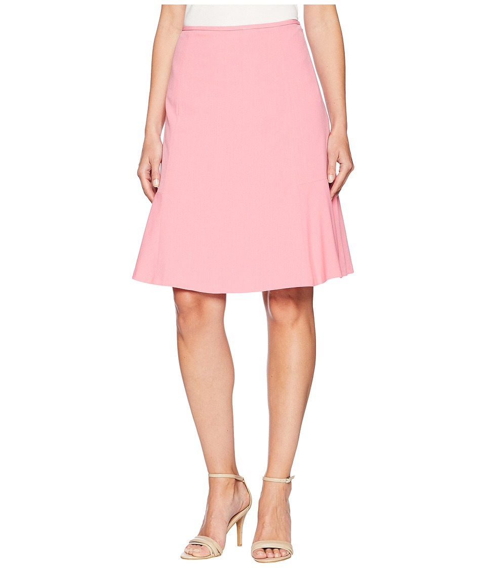 Nine West Bi Stretch Flared Hem Skirt (Bubble Gum) Women