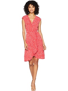 V Neck Faux Wrap Dress by Bcbgmaxazria