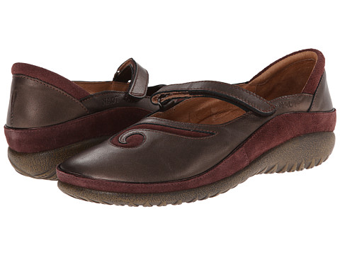 Naot Footwear - Matai (Copper Leather/Wine Suede) Women's Maryjane Shoes