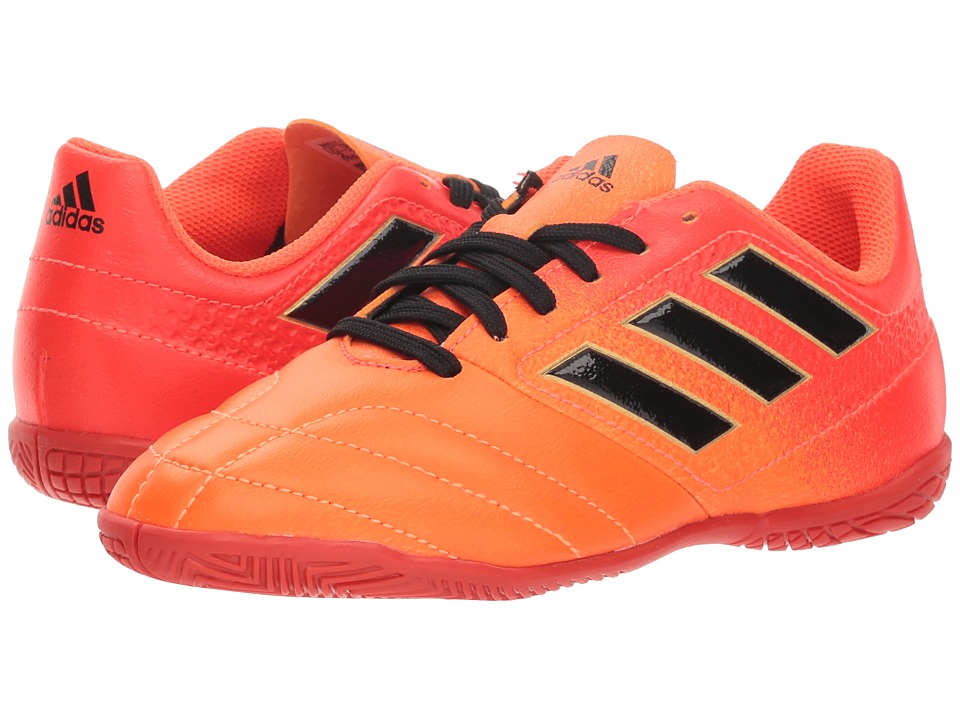 adidas Kids Ace 17.4 Indoor Soccer Shoe (Little Kid/Big Kid) (Solar Orange/Black/Solar Red) Kid