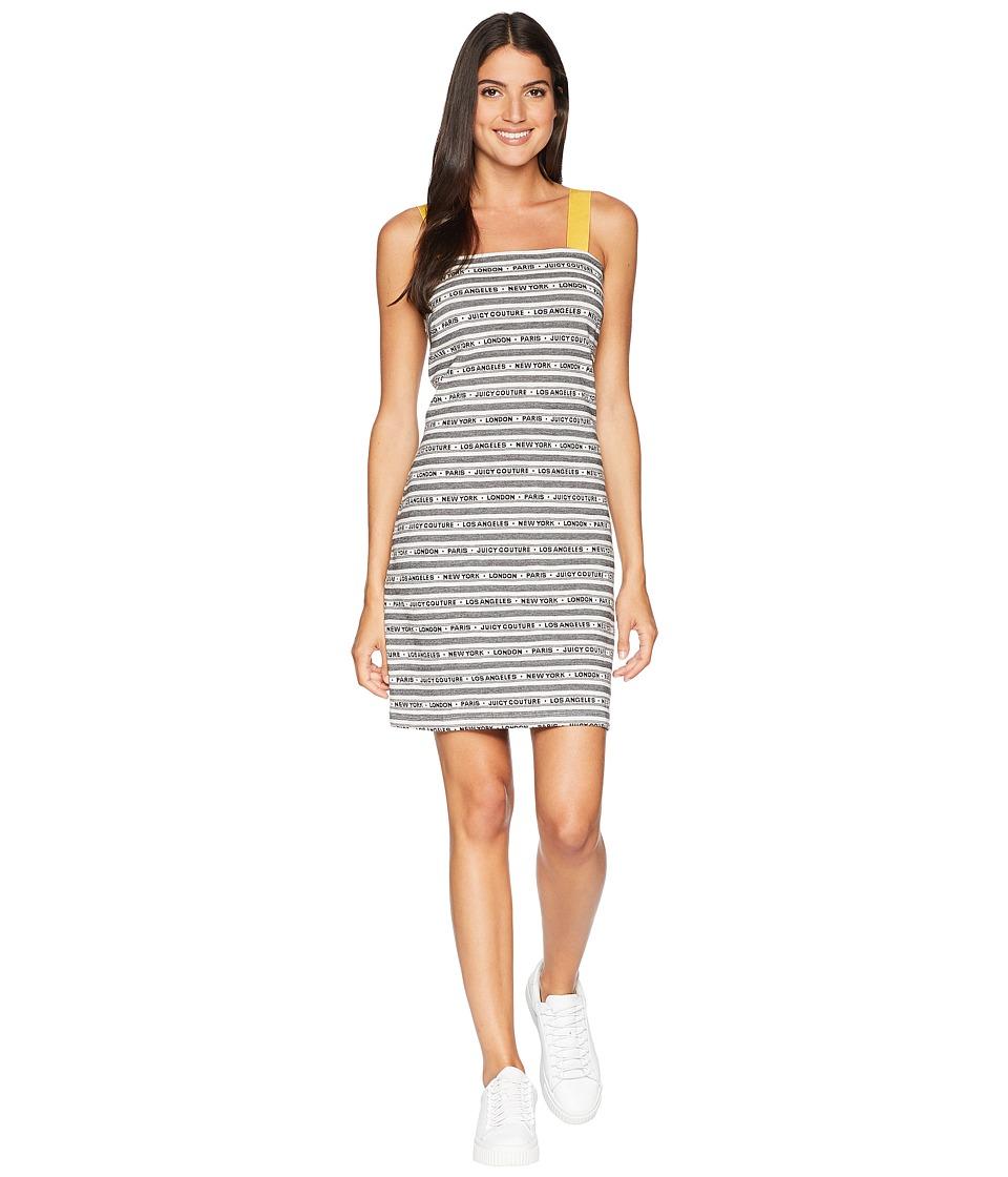 Juicy Couture Juicy Cities Jacquard Dress (Pitch Black City Stripe) Women