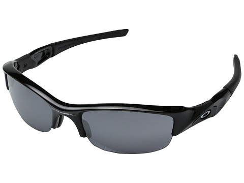 Oakley Flak Jacket (Jet Black/Black Iridium Lens) Sport Sunglasses
