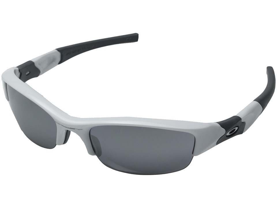 Oakley - Flak Jacket (Polished White/Black Iridium Lens) Sport Sunglasses