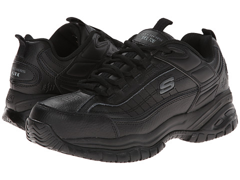 SKECHERS Work - Soft Stride - Dexter (Black) Men's Lace up casual Shoes