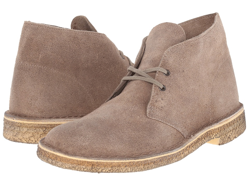 Clarks - Desert Boot (Taupe Suede) Men's Lace-up Boots