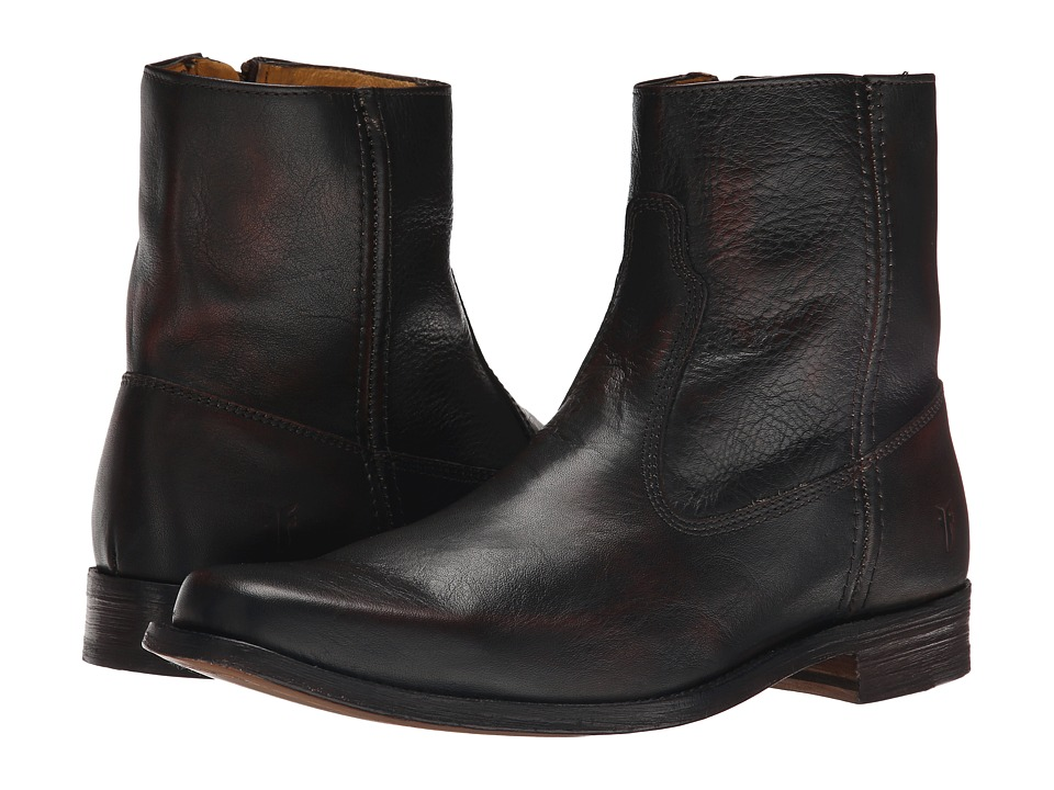 Frye - Emmett Inside Zip (Dark Brown Vintage Brush Off) Men