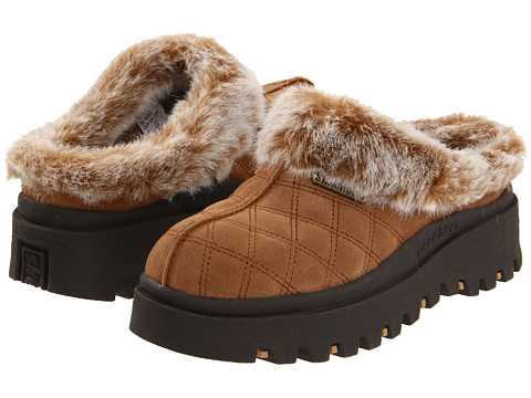 SKECHERS - Shindigs - Miracle (Chestnut Suede/Faux-fur Lining) Women's Clog Shoes