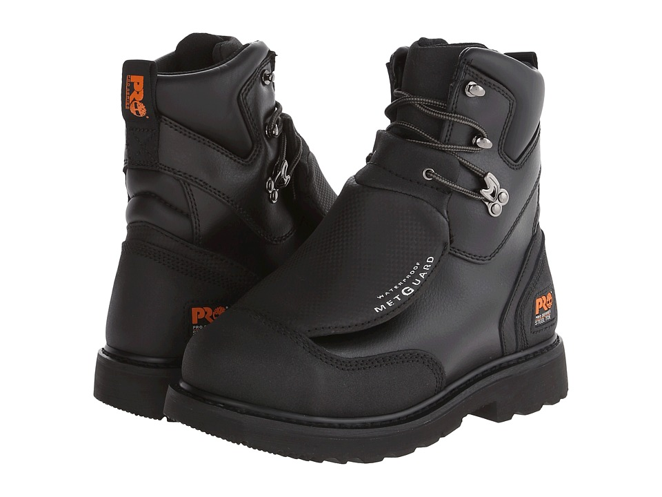 Timberland PRO - Met Guard 8 Waterproof Steel Toe (Black Ever-Guard Leather) Men