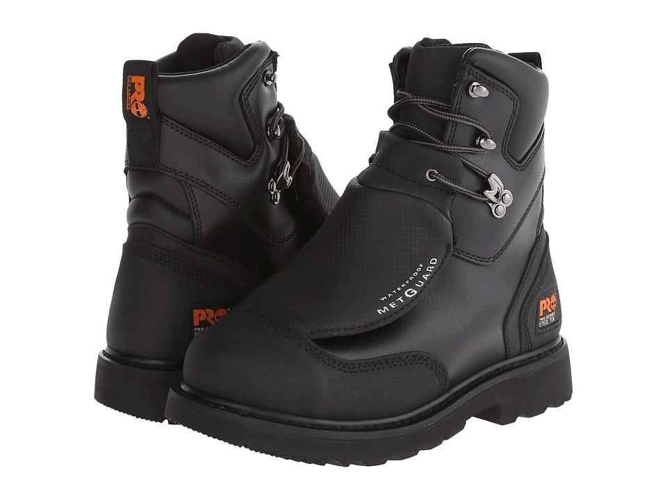 Timberland PRO Met Guard 8 Waterproof Steel Toe (Black Ever-Guard Leather) Men