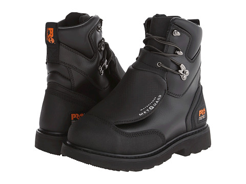 Timberland PRO - Met Guard 8 Waterproof Steel Toe (Black Ever-Guard Leather) Men's Work Boots