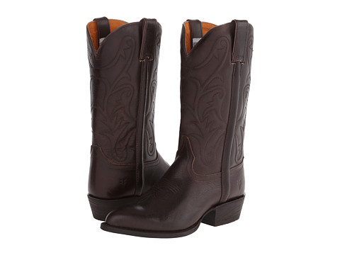 Frye - Bruce Pull On (Dark Brown Textured Full Grain) Women's Pull-on Boots
