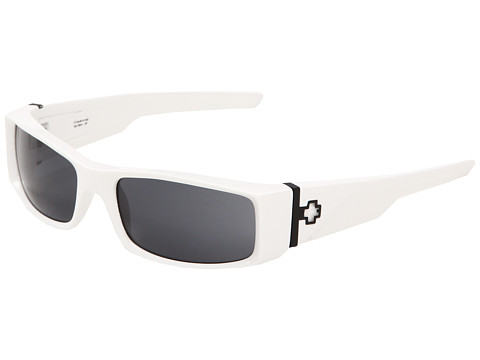 Spy Optic - Hielo (White/Grey Lens) Plastic Frame Fashion Sunglasses
