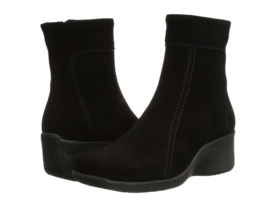 La Canadienne - Felicia (Black Suede) Women's Zip Boots