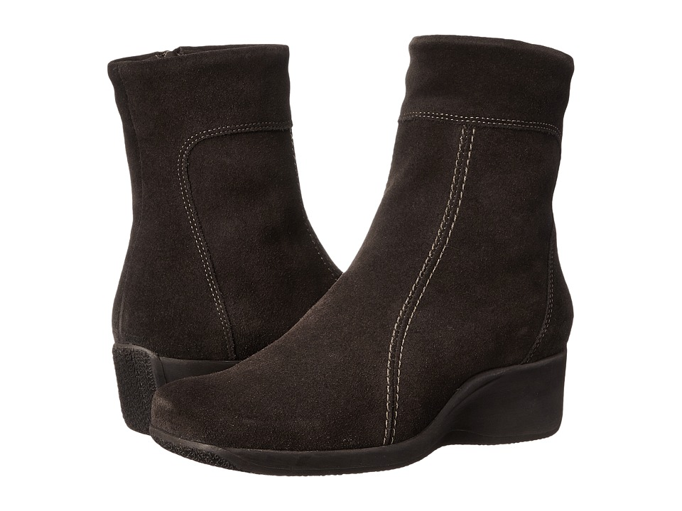 La Canadienne - Felicia (Brown Suede) Women's Zip Boots