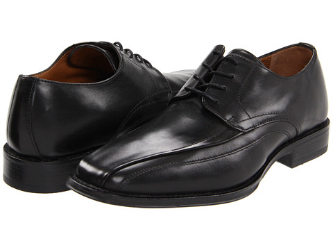 Johnston & Murphy - Harding Panel Lace Up (Black Leather) Men's Lace-up Bicycle Toe Shoes
